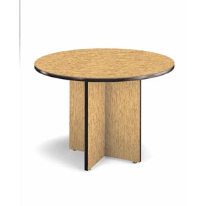Medium Oak Conference 42 Inch Round Table