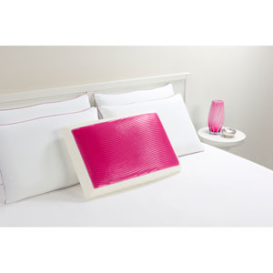 Hydraluxe Wave Pink Standard Gel Bed Pillow