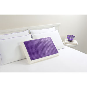 Hydraluxe Bubble Purple Standard Gel Bed Pillow