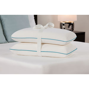 White Standard Memory Foam Bed Pillow, Set of Two
