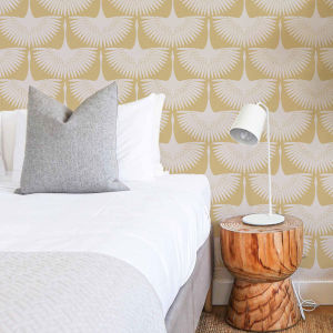 Feather Flock Golden Hour Peel and Stick Wallpaper