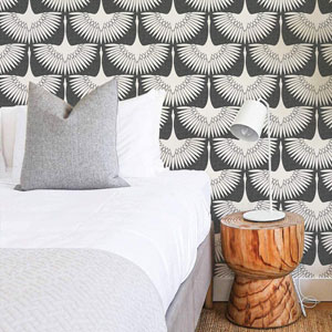 Feather Flock Storm Grey 28 Sq. Ft. Peel and Stick Wallpaper