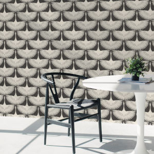 Feather Flock Storm Grey 56 Sq. Ft. Peel and Stick Wallpaper