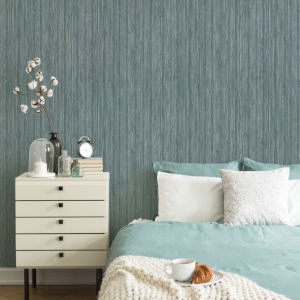 Grasscloth Chambray Peel and Stick Wallpaper