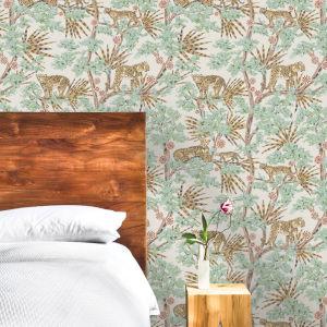 Leopards Mocha Peel and Stick Wallpaper