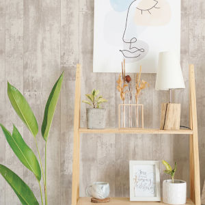 Repurposed Wood Shabby Cedar Peel and Stick Wallpaper
