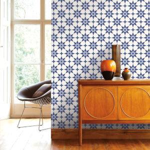 Soleil Blue Santorini Peel and Stick Wallpaper