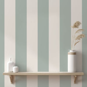 Stripe Green Seafoam Peel and Stick Wallpaper