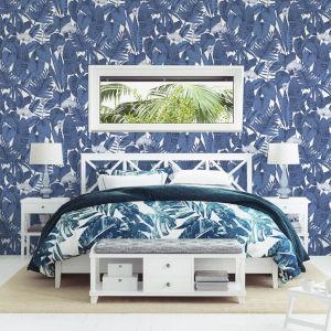 Tropical Blue Raspberry Peel and Stick Wallpaper