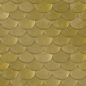 Genevieve Gorder Brass Belly Old World Brass Metallic Removable Wallpaper