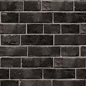Textured Brick Ebony Removable Wallpaper