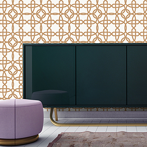 Chainlinx Gold Removable Wallpaper