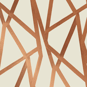 Genevieve Gorder Intersections Urban Bronze Removable Wallpaper