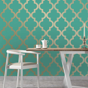 Marrakesh Honey and Jade Removable Wallpaper