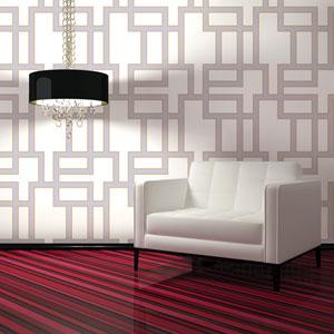 Maze Lilac Removable Wallpaper