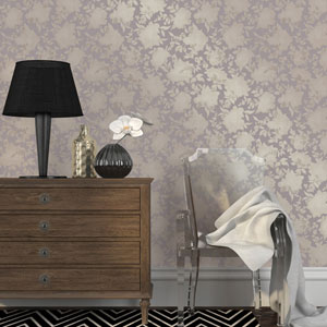 Silhouette Dusted Lavender Removable Wallpaper