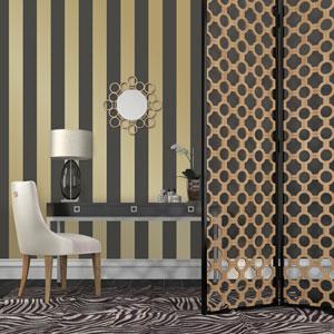 Gold Stripes Removable Wallpaper