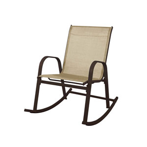 Brown Patio Rocking Chair
