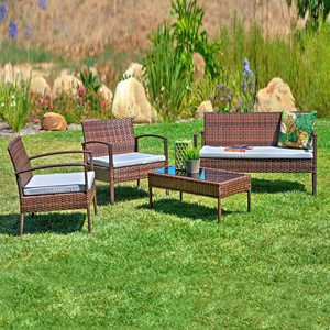 Teaset Grey 4-Piece All-Weather Patio Conversation Set