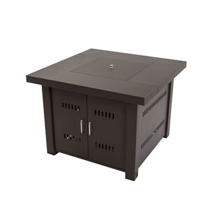 Avalon 38-inch Square Gas Fire Pit Table