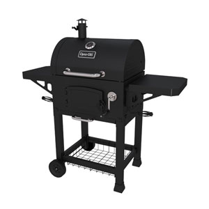 Dyna-Glo Black Powder Coat Heavy-Duty Charcoal Grill with Cast Iron Grates and Charcoal Door
