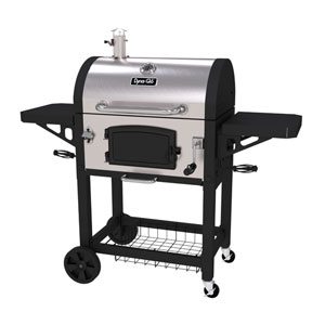 Dyna-Glo Stainless Steel Heavy-Duty Charcoal Grill with Cast Iron Grates and Charcoal Door