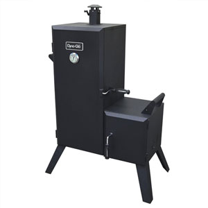 Dyna-Glo Black Powder Coat Steel Double Door Vertical Charcoal Offset BBQ Smoker with 6 adjustable Cook Grates