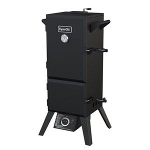 Dyna-Glo Black Powder Coat Steel 15,000-BTU Double Door Vertical Gas BBQ Smoker with 4 Adjustable Cook Grates