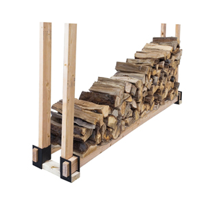Pleasant Hearth Steel Log Rack Brackets For Do It Yourself Firewood Storage Systems