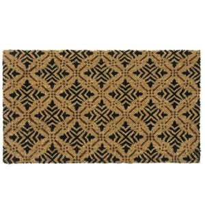 Tan Classic Fleur de Lis French Matting Door Mat
