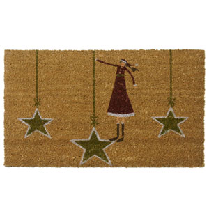 Tan Holiday Door Mat