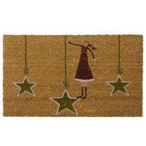 Tan Holiday Door Mat