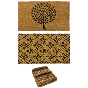 Tan and Black French Country Doormat Kit, Set of Three