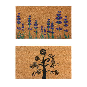 Tan and Black Dirt Stopper Doormats, Set of Two