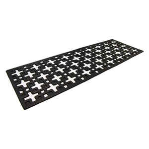 Black Stars Recycled Rubber Step Mat, Set of Six