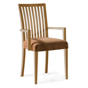 Skyline Sunbrella Sailcloth Shell Arm Chair in Flax Finish