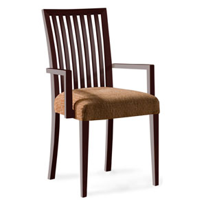 Skyline Impression Arm Chair in Java Finish