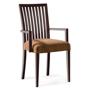 Skyline Impression Arm Chair in Walnut Finish