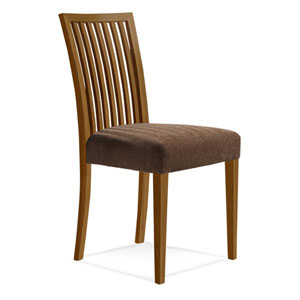Skyline Sunbrella Spectrum Mushroom Side Chair in Flax Finish