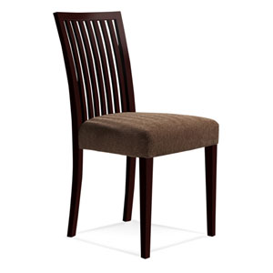 Skyline Linen Side Chair in Java Finish