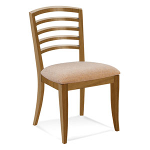 Peter Francis Linen Side Chair in Flax Finish