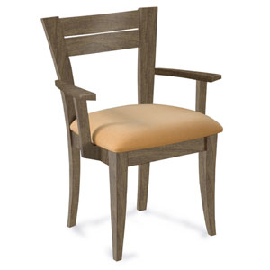 Skyline Sunbrella Sailcloth Shell Arm Chair in Nantucket Finish
