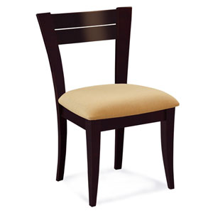 Skyline Sunbrella Dove Side Chair in Chocolate Finish