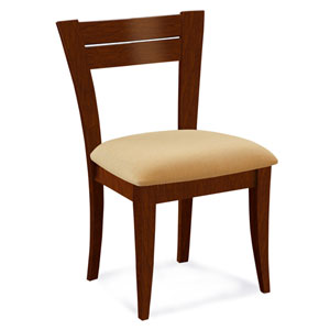 Skyline Sunbrella Dove Side Chair in Harvest Finish
