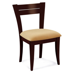 Skyline Sunbrella Spectrum Mushroom Side Chair in Java Finish