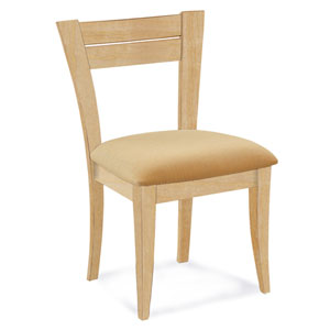 Skyline Sunbrella Sailcloth Shell Side Chair in Natural Finish