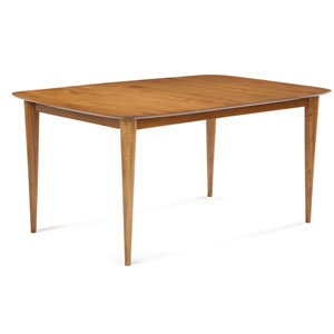 Cona - 36x60 Rectangular Extension Maple Dining Table - Strata Texture Top - Flax Finish