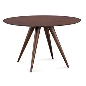 Iris 60-Inch Java Round Dining Table