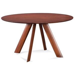 Eden 54-Inch Walnut Round Dining Table