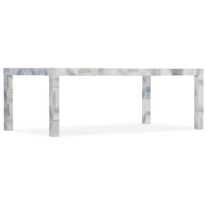 Melange Gray and White 52-Inch Cocktail Table